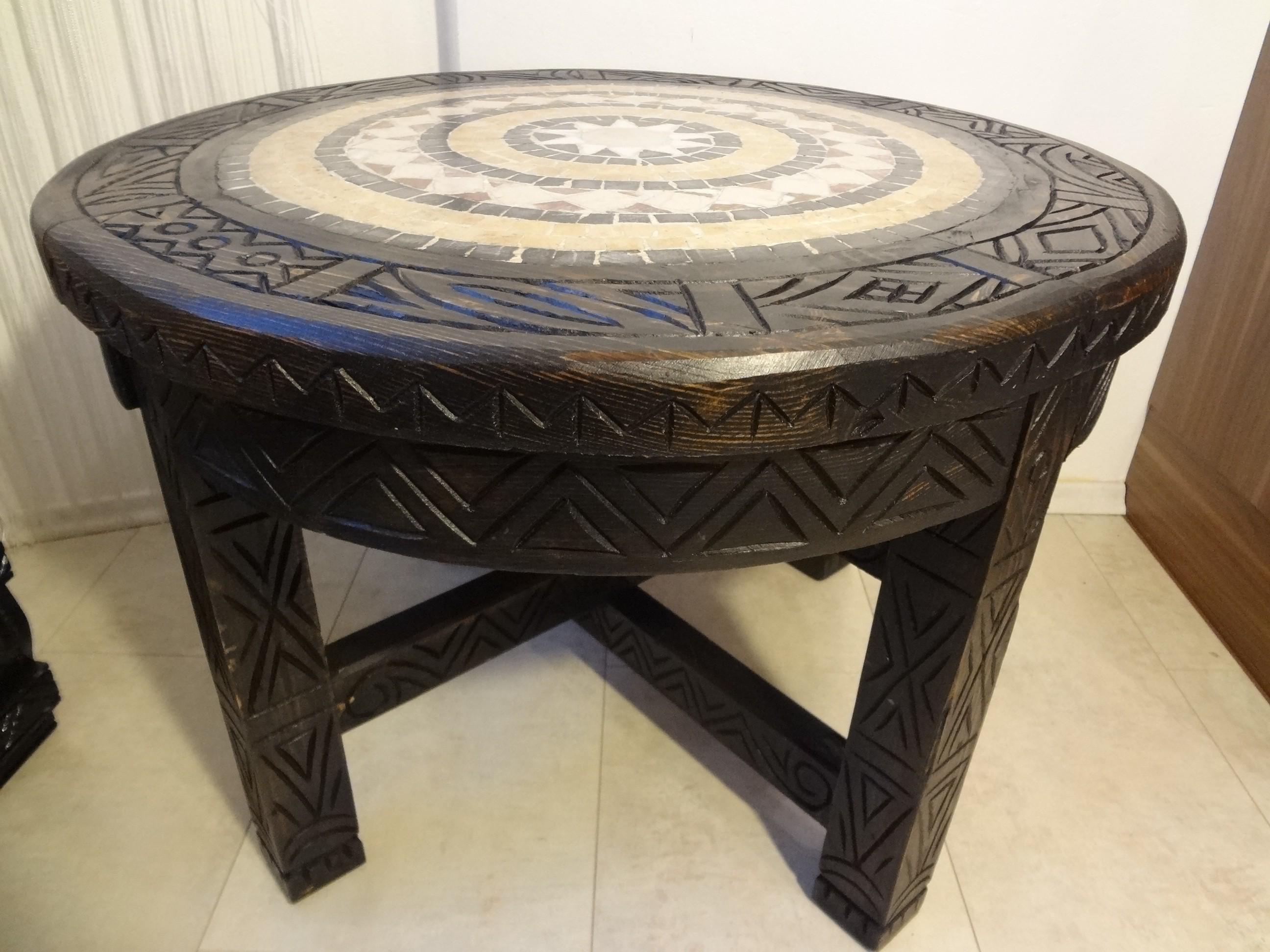 Mosaik tisch rund for Marokko tisch