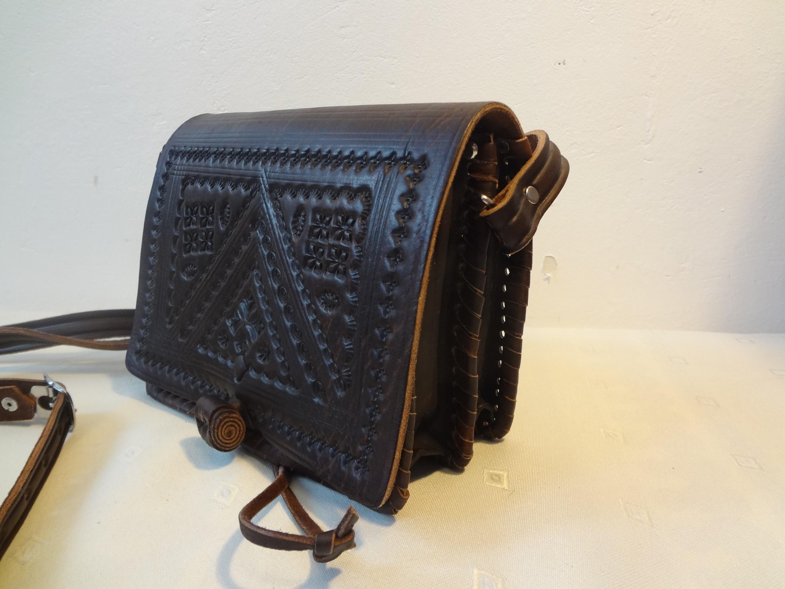 Handtasche Marrakesch, Leder (braun)