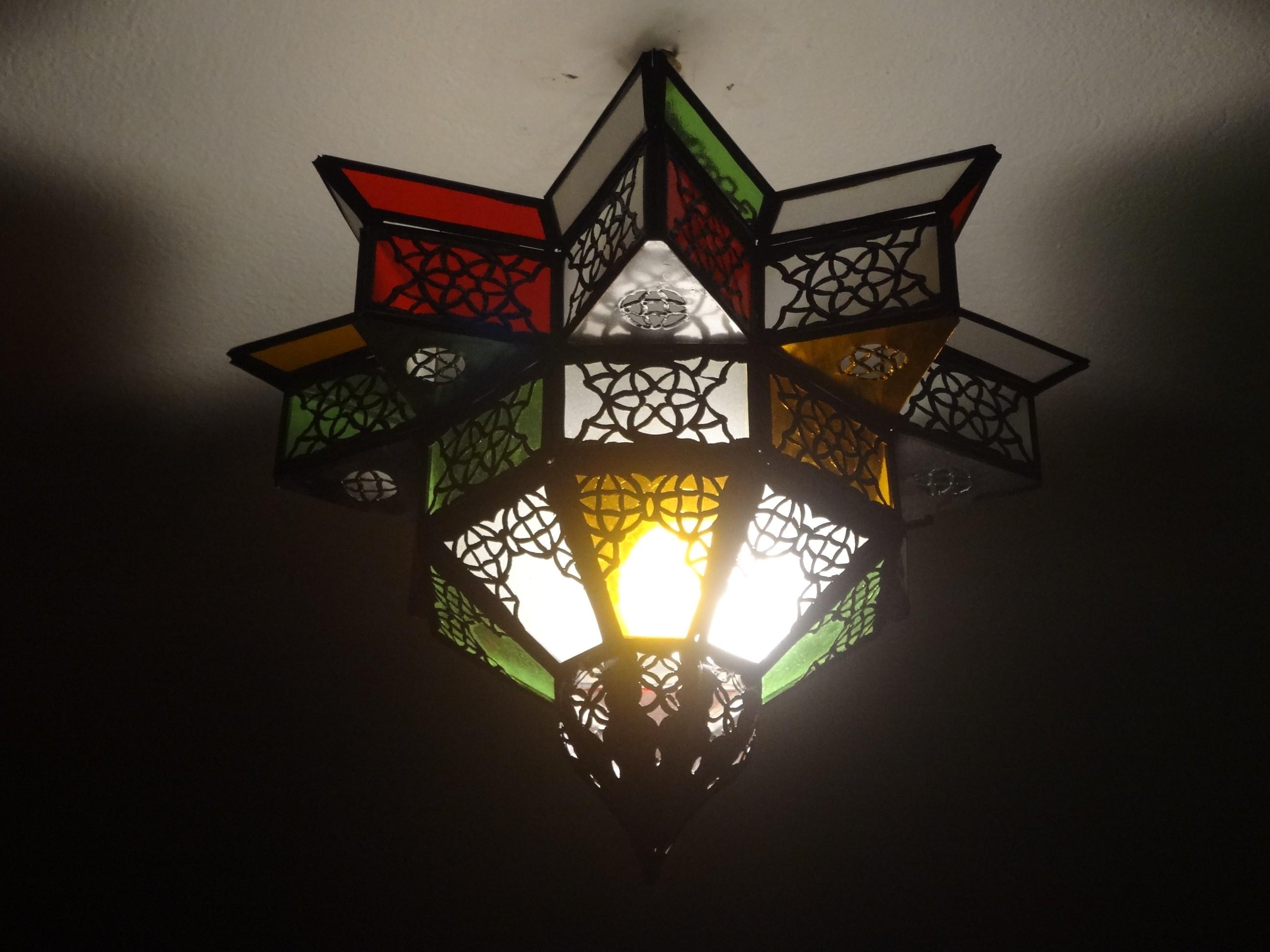 Stern-Deckenlampe, Kupfer
