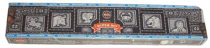 Superhit Nag Champa Räucherstäbchen, 15 g (schwarz)