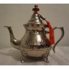 Orientalische Teekanne, Silber